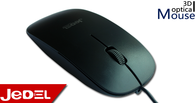 51% OFF! JEDEL 1000dpi slim 3D Optical Mouse worth Rs. 600 for just Rs. 290!