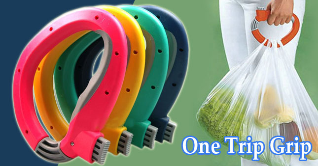 70% OFF! Get One Trip Grip Grocery Bag Holder worth Rs. 750 for just Rs. 220!