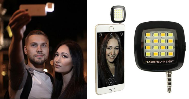 70% OFF! Price further reduced! Get 16 LED Selfie Enhancing Flash Light for Smartphone worth Rs. 1,500 for just Rs. 450!