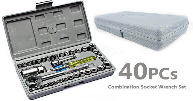 58% OFF! AIWA 40 Piece Combination Socket Wrench Set (Small) worth Rs. 1,665 for just Rs. 699!