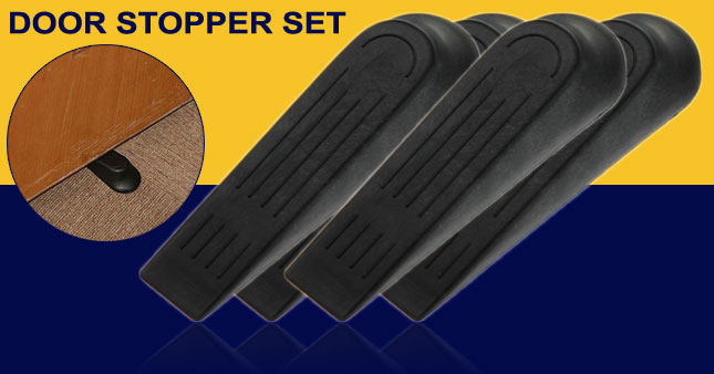 45% OFF! 4 Pieces set of Door Stoppers worth Rs. 350 For Just Rs. 190!