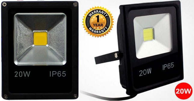 38% OFF! 20W LED Outdoor Flood Light worth Rs. 2,850 For Just Rs. 1,750 with One Year Warranty!