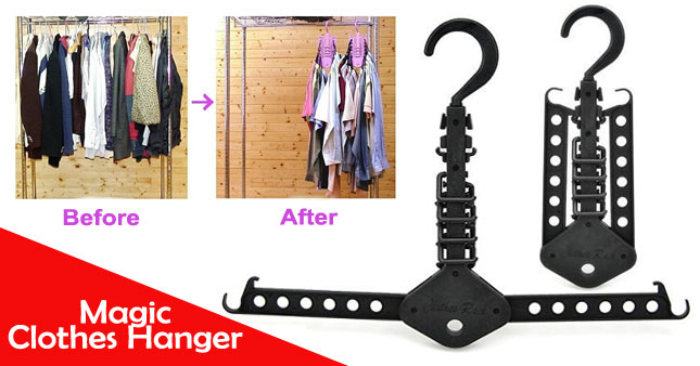 47% OFF! Multi Purpose Magic Clothes Hanger worth Rs. 550 for just Rs. 290 As Seen On TV!