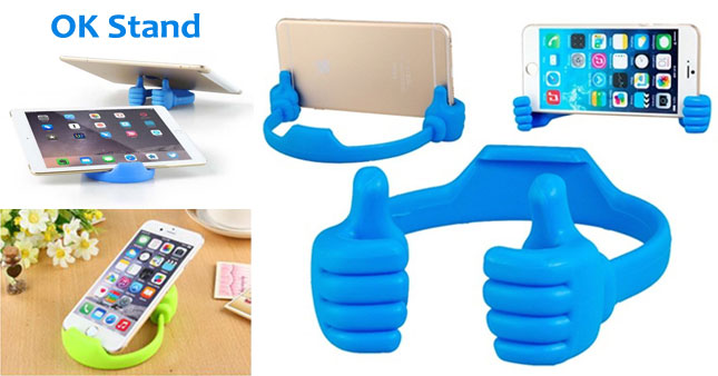 77% OFF! Multi-Angle 'OK' Thumbs-up Mobile Phone and Tablet Stand worth Rs. 400 for just Rs. 200!