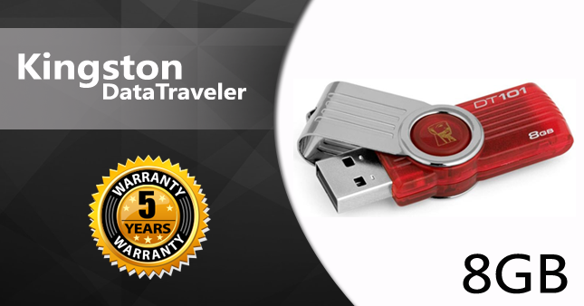 35% OFF! Kingston 8GB USB Flash Drive worth Rs. 999 for just Rs. 650 inclusive of Five Year Warranty!