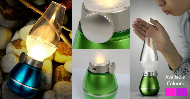 50% OFF! Price Further Reduced! Get USB Rechargeable Blow LED Retro Lamp worth Rs. 1,180 for just Rs. 590!