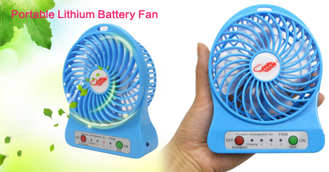 56% OFF! Price Further Reduced! Super Wind Rechargeable Portable Mini Fan worth Rs. 1,250 for just Rs. 550!