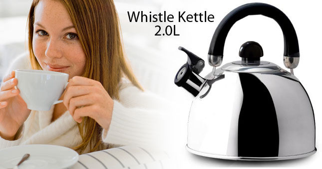 40% OFF! AMILEX 2L Stainless Steel Whistling Kettle worth Rs. 1,550 for just Rs. 950!