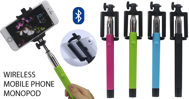 60% OFF! Portable Wireless Bluetooth Mobile phone Monopod worth Rs. 1,900 for just Rs. 750!