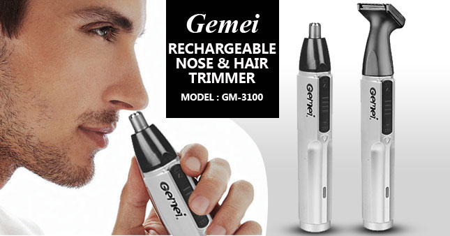 41% OFF! Gemei GM-3100 Rechargeable Nose and Hair Trimmer worth Rs. 1,950 for just Rs.1,150 inclusive of Warranty!