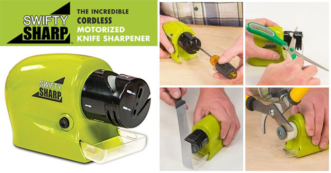 48% OFF! Swift Sharp Motorized Knife Sharpener worth Rs. 1,145 for just Rs. 599!
