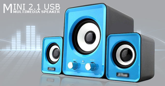 34% OFF! USB Powered 2.1 Multimedia Mini Speaker System worth Rs. 2,500 for just Rs. 1,650!