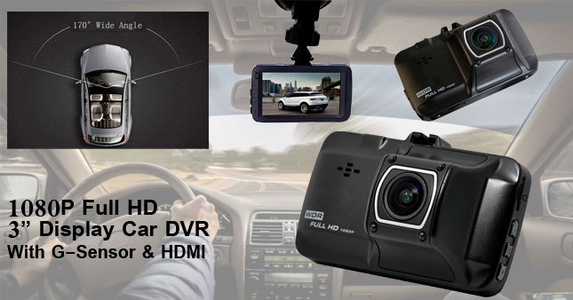 60% OFF! FLASH DEAL... 1080P Full HD Car DVR Camera with G-sensor worth Rs. 11,850 for just Rs. 4,800!