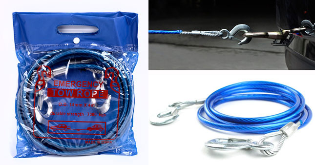 42% OFF! High Quality Emergency Vehicle Tow Rope worth Rs. 1,900 for just Rs. 1,100!