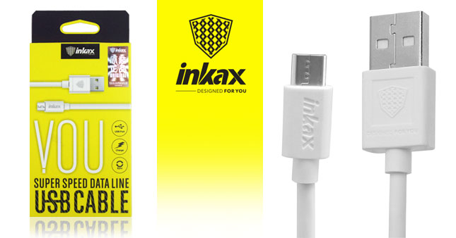 50% OFF! Inkax Micro USB Data Sync and Fast Charging Cable worth Rs. 500 for just Rs. 250 Inclusive Of Warranty!