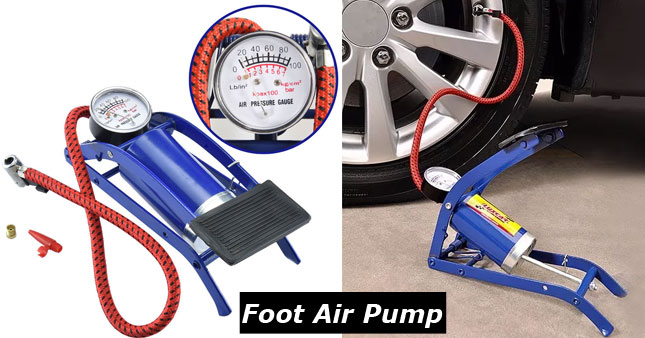 50% OFF! High Pressure Portable Foot Air Pump worth Rs. 1,100 for just Rs. 550!