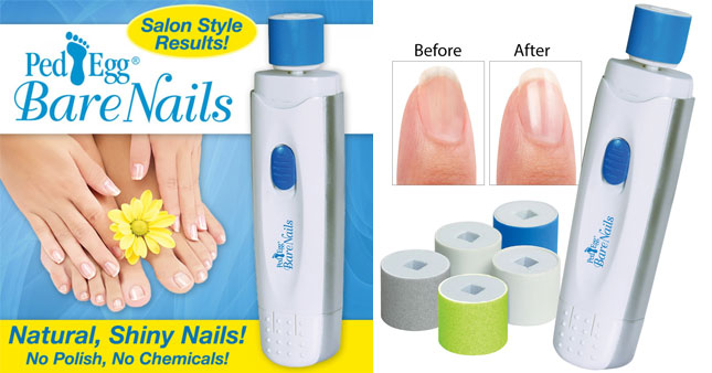 50% OFF! Ped Egg Bare Nails Electronic Nail Care System worth Rs. 1,990 for just Rs. 999!
