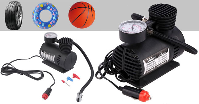 50% OFF! Portable DC 12V Electric Car Air Compressor/ Tyre Inflator worth Rs. 2,900 for just Rs. 1,450!