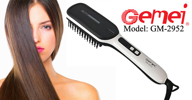 40% OFF! Gemei GM-2952 Professional Hair Straightener Brush Rs. 3,950 for just Rs. 2,350!