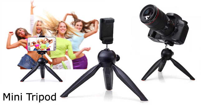 50% OFF! Mini Tripod Mount with Phone Holder Clip worth Rs. 1,200 for just Rs. 599!