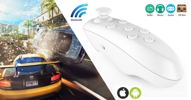 50% OFF! VR BOX Bluetooth Wireless Game-pad Remote Controller worth Rs. 800 for just Rs. 400!