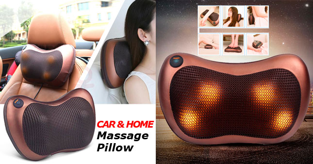 36% OFF! Car And Home Massage Pillow   worth Rs. 5,990 for just Rs. 3,800!