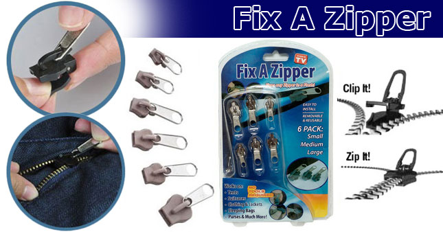 60% OFF! Fix A Zipper Universal Instant Zip Replacement Kit worth Rs. 1,200 for just ,Rs. 480!