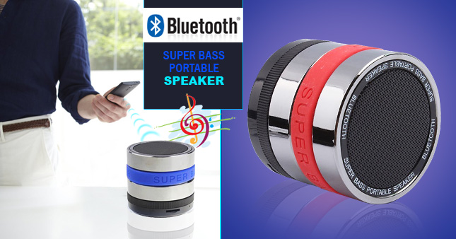 50% OFF! Super Bass Portable Bluetooth Wireless speaker worth Rs. 2,900 for just Rs. 1,450!