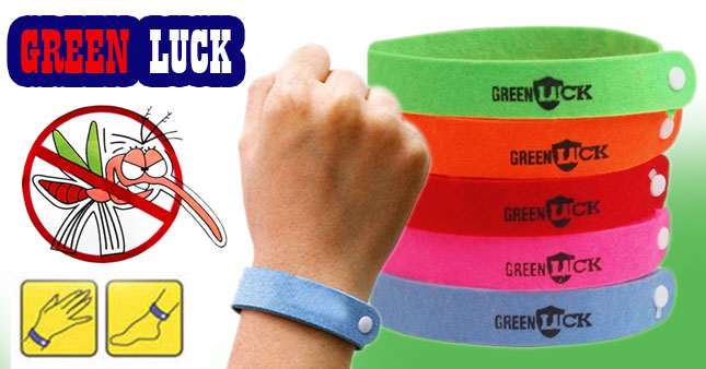 66% OFF! Get 3 Pieces Green Luck Mosquito Repellent Band worth Rs. 300 for just Rs. 100!