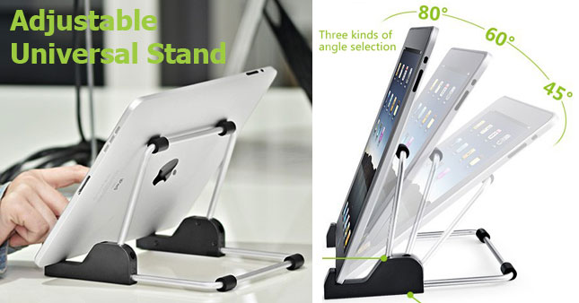50% OFF! Adjustable Universal Stand for iPad and Tablet PCs worth Rs. 800 for just Rs. 400!