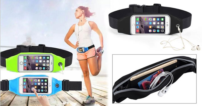 50% OFF! Water Resistant Sport Waist Belt Mobile Phone Pouch worth Rs. 900 for just Rs. 450!