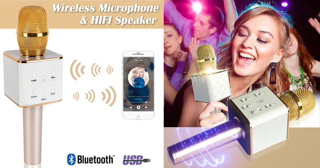 50% OFF! Q7 Bluetooth KTV Home Karaoke Speaker Microphone worth Rs. 5,700 for just Rs. 2,850!