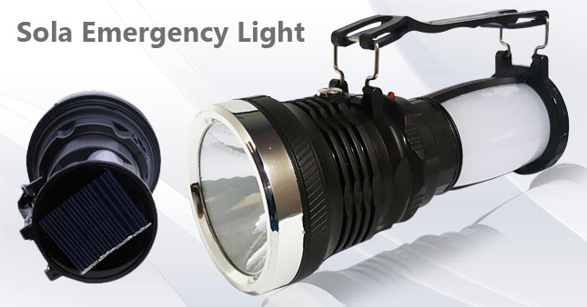50% OFF! Rechargeable Solar Emergency Lamp worth Rs. 1,100 for just Rs. 550!