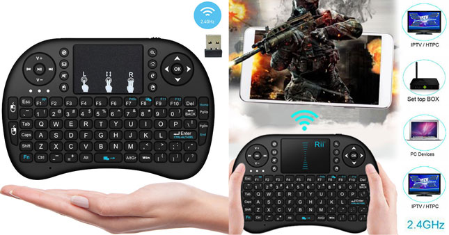 50% OFF! 2.4GHz Wireless Rechargeable Mini Keyboard With Mouse Touch-pad worth Rs. 3,900 for just Rs. 1,950!