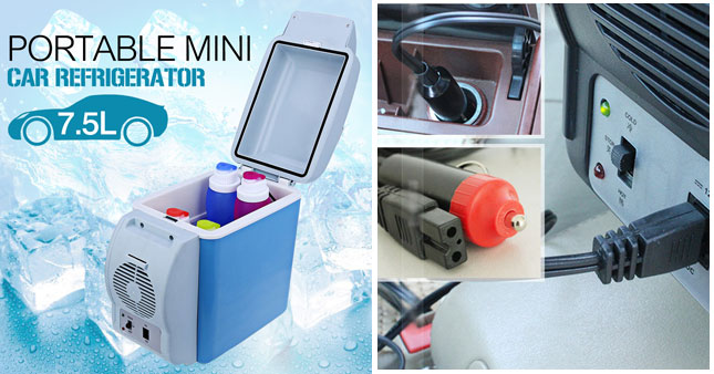 40% OFF! 7.5L Hot & Cold Portable Car Refrigerator worth Rs. 5,500 for just Rs. 3,250!