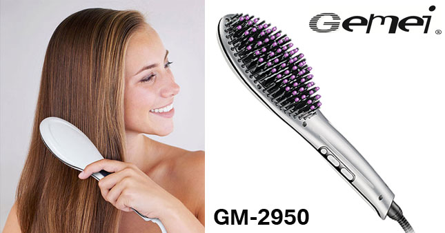 50% OFF! Gemei GM-2952 Professional Hair Straightener Brush worth Rs. 3,900 for just Rs.1,950!