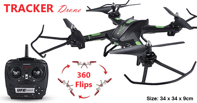 50% OFF! Get 2.4G 6 Axis Gyro Tracker Drone S5 Camera Support  Remote Control Large Quadcopter worth Rs. 11,000 for just Rs. 5,500!