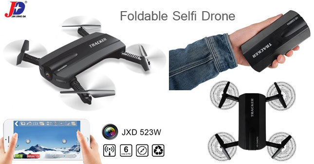 40% OFF! JXD 523W Foldable WiFi FPV Camera Selfie Drone with Altitude Hold worth Rs. 12,500 for just Rs. 7500!