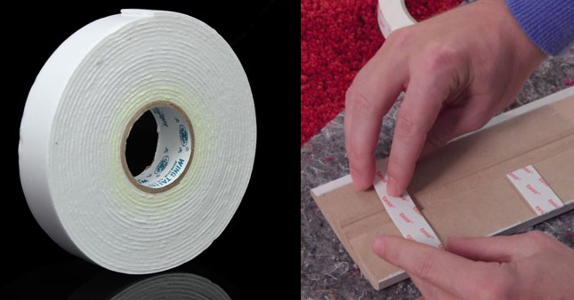50% OFF! Self Adhesive Strong Double Sided White Form Sticky Mounting Tape worth Rs. 200 for just Rs. 100!