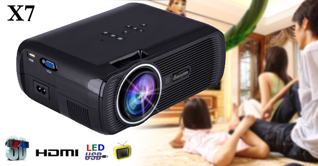 35% OFF! X7 1800 Lumens high-performance Mini LED projector worth Rs.28,500 for just Rs.18,500 inclusive of Warranty!