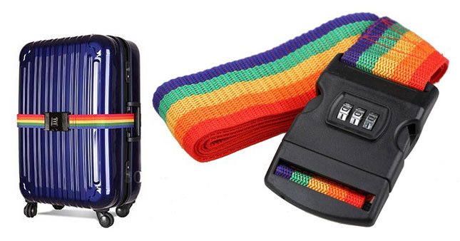 47% OFF! Adjustable Luggage Strap With Security 3-Dial Combination Lock worth Rs. 850 for just Rs. 450!