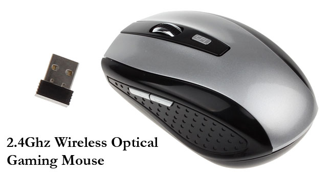 50% OFF!2.4GHz 6 Buttons Wireless Optical Mouse worth Rs. 1,300 for just Rs. 650!