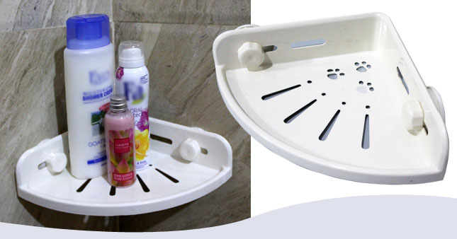 40% OFF! Bathroom Kitchen Corner Shelf worth Rs. 1,250 for just Rs. 750!