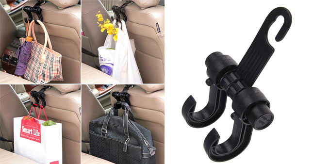 50% OFF! Car Headrest Seat Double Hook Bag Holder worth Rs. 600 for just Rs. 299!