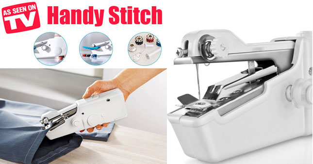 56% OFF! Handy Stitch Handheld Electric Sewing Machine worth Rs. 2,500 for just Rs. 1,100!