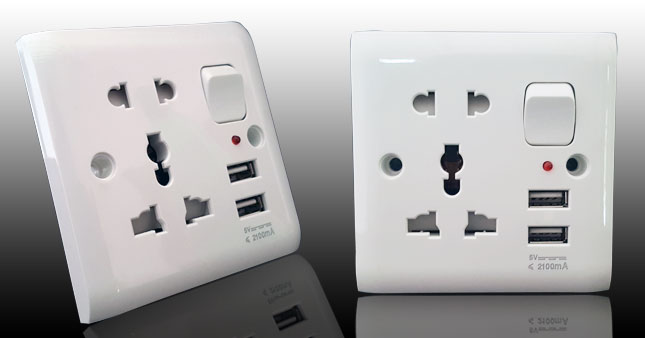 50% OFF! Dual USB Wall Power Socket with Indicator Light and Switch worth Rs. 1,700 for just Rs. 850!