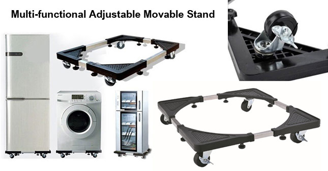 30% OFF! Multi-functional Adjustable Movable Stand for Washing Machine and Refrigerator worth Rs. 3,500 for just Rs. 2,450!