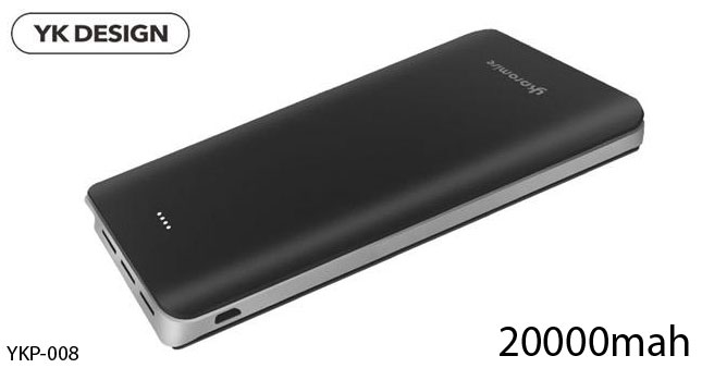 40% OFF! High Capacity YK 20000mAh Power Bank with Triple USB port worth Rs. 5,850 for just Rs. 3,500 inclusive of Warranty!
