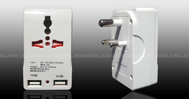 56% OFF! Price Further Reduced! Multi-Plug-with-2-USB worth Rs. 1,250 for just Rs. 550!