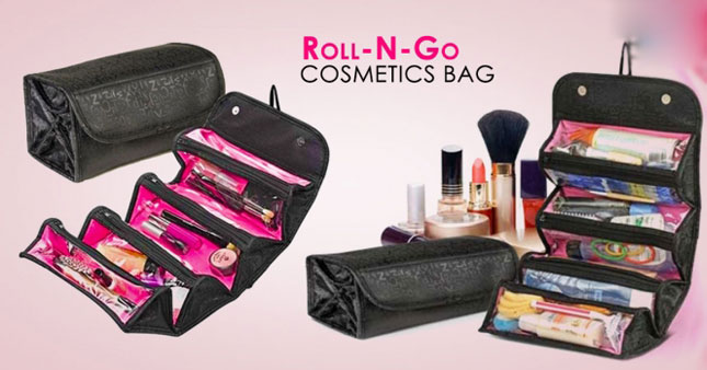 54% OFF! Roll n Go Cosmetic Bag Organizer worth Rs.1,500.00 for just Rs.690